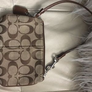 Coach wristlet in brown new